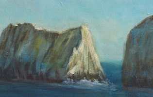 Isle of Wight - Oil on Acrylic on Box Canvas